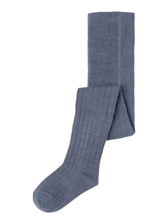 Wakma Wool Rib Pantyhose, Mini - Ombre Blue