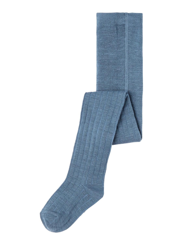 Wakma Wool Rib Pantyhose, Mini - China Blue