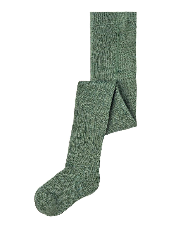 Wakma Wool Rib Panyhose, Mini - Duck Green