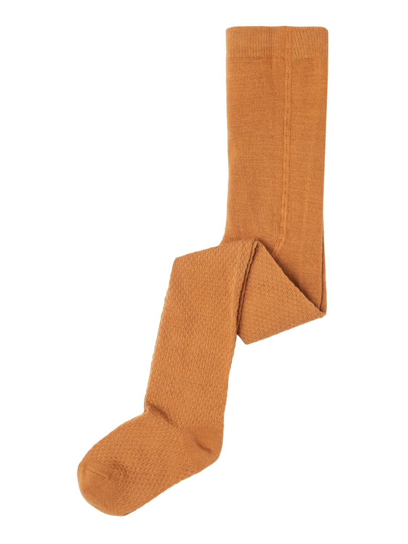 Wakma Wool Cable Pantyhose - Brown Sugar