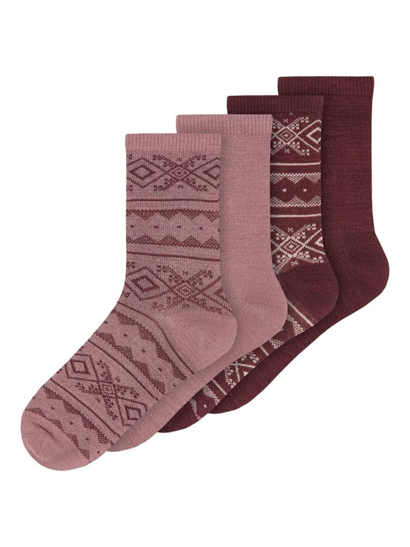 Wak Wool 4pk Sock - Nostalgia Rose
