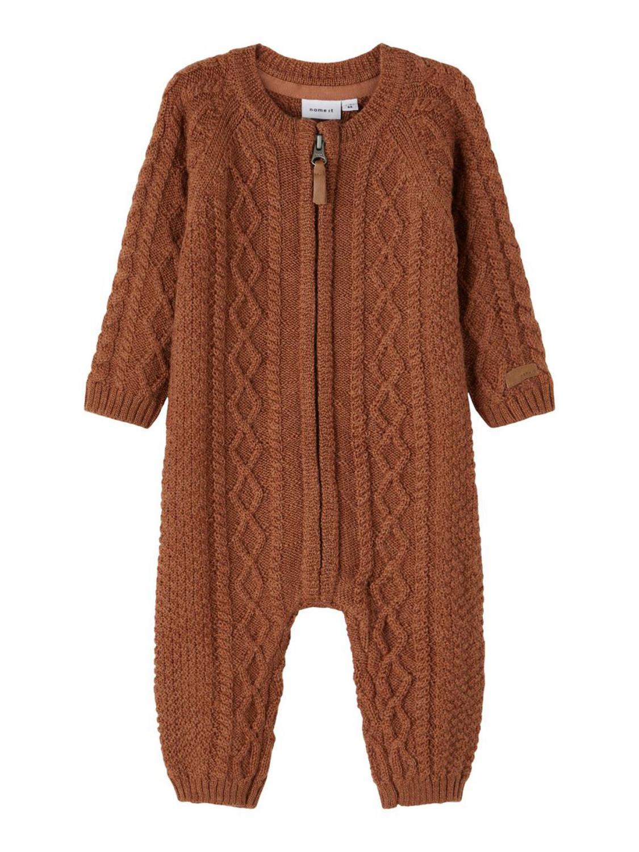 Wrilla Wool LS Knit Suit Baby - Mocha Bisque