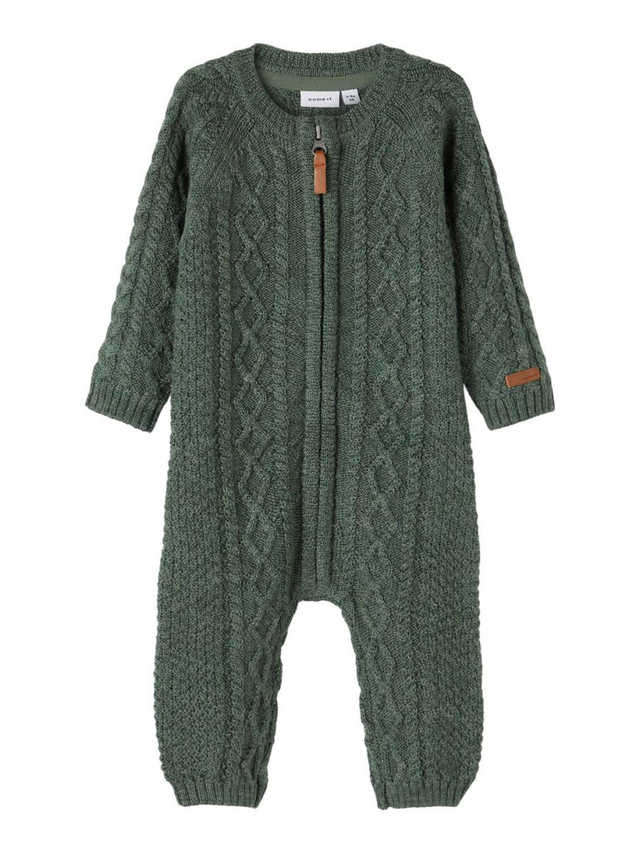 Wrilla Wool LS Knit Suit - Duck Green