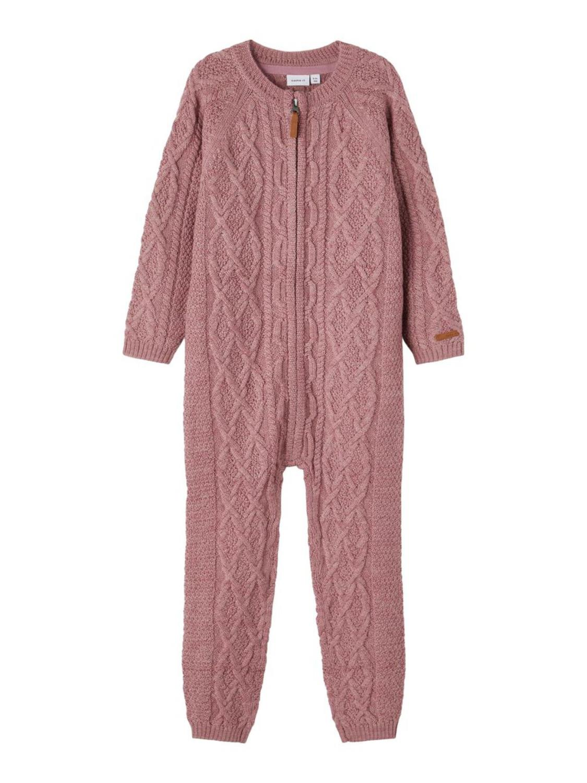Wrilla Wool LS Knit Suit Mini - Nostalgia Rose