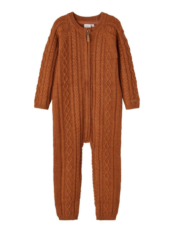 Wrilla Wool LS Knit Suit Mini - Mocha Bisque