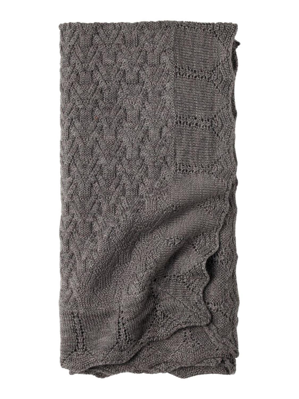 Wruni Wool Knit Blanket - Plum Kitten
