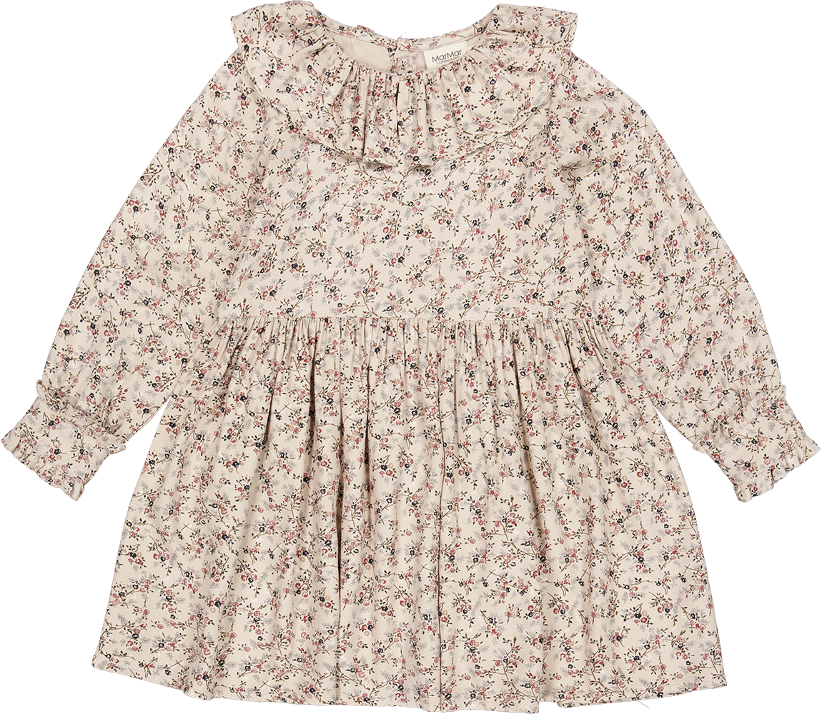Dalba Dress, Viscose Twill - Climbingrose