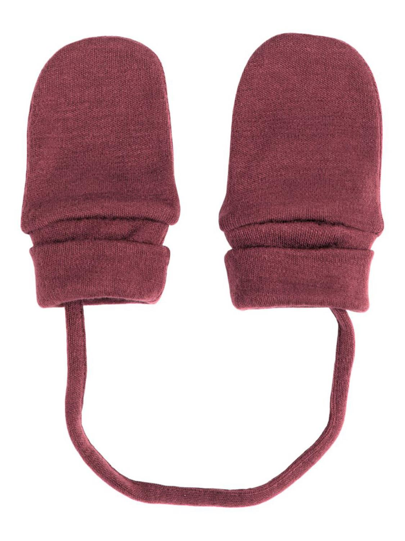 Willit Wool Mittens wo/Thumb, Baby - Red Mahogany