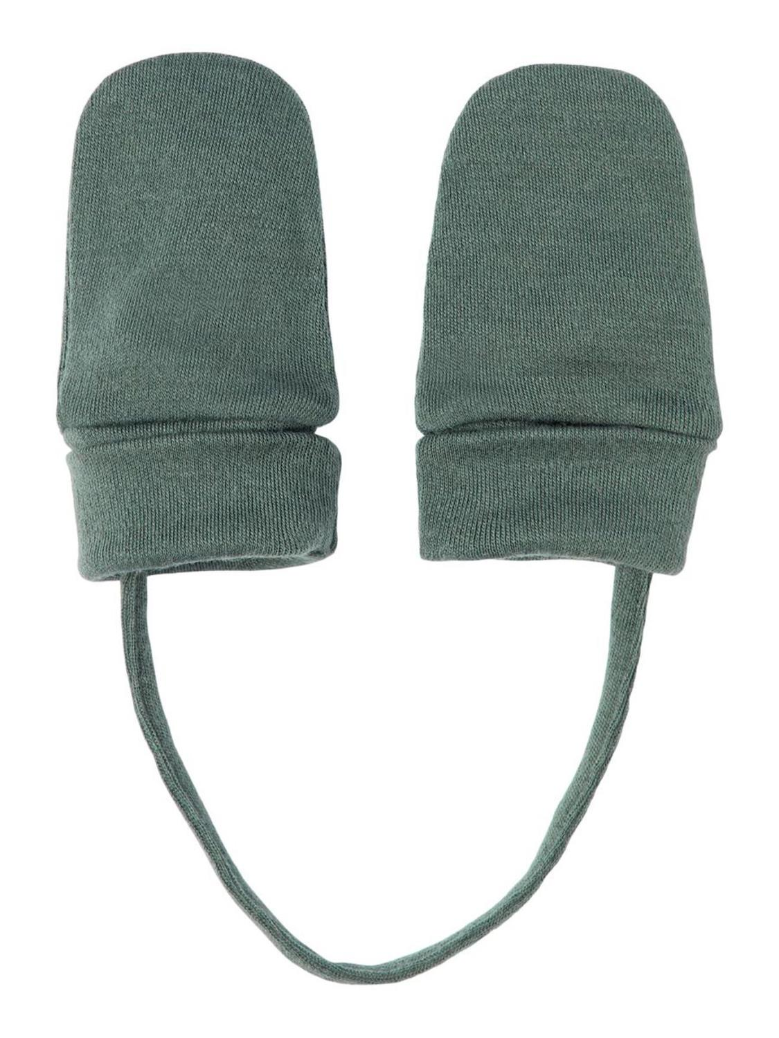 Willit Wool Mittens wo/Thumb, Baby - Duck Green