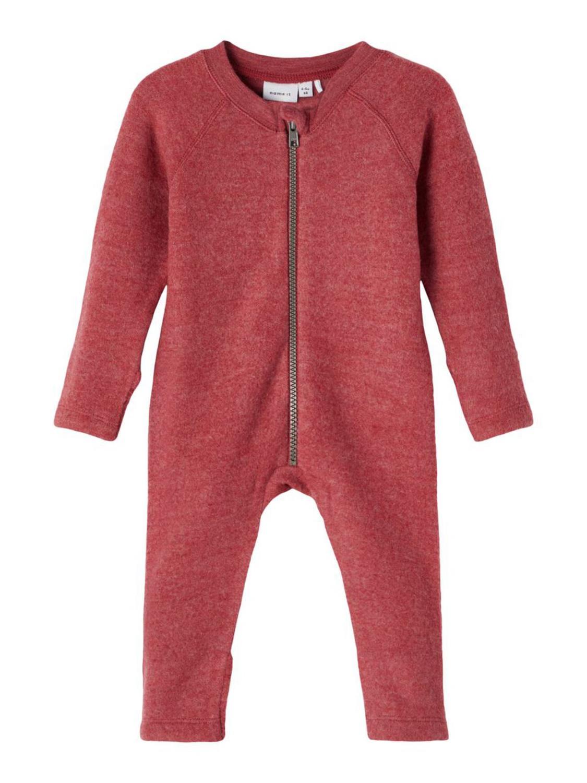Wmino Wool Suit, Børstet - Earth Red