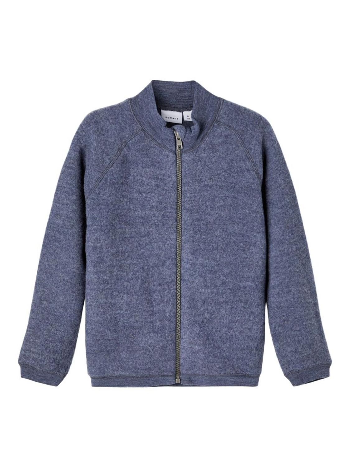 Wmino Wool Brushed Cardigan - Ombre Blue