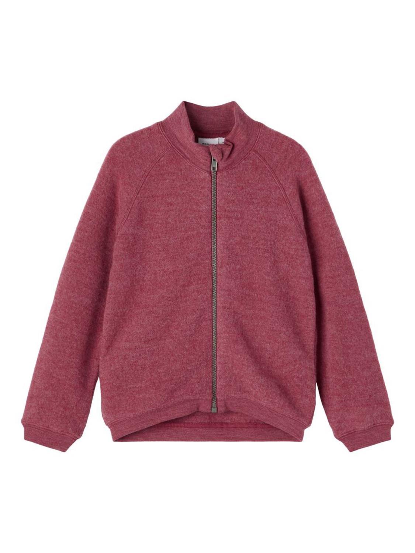 Wmino Wool Brushed Cardigan - Earth Red