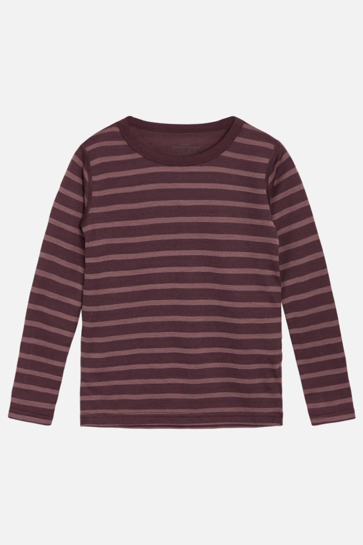 Abba Ull/Bambus T-shirt - Plum Wine