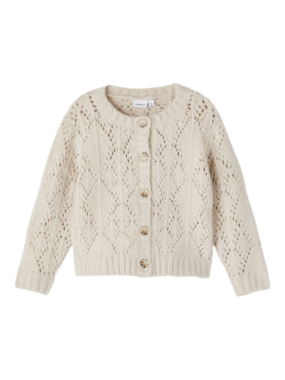 Novia LS Loose Knit Cardigan - Whitecap Gray