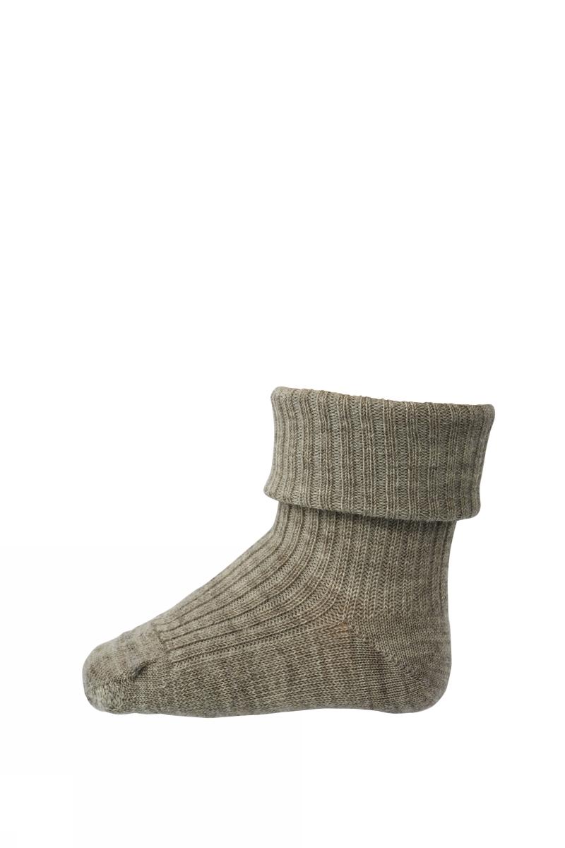 MP Wool Rib Sock - Brown Mel