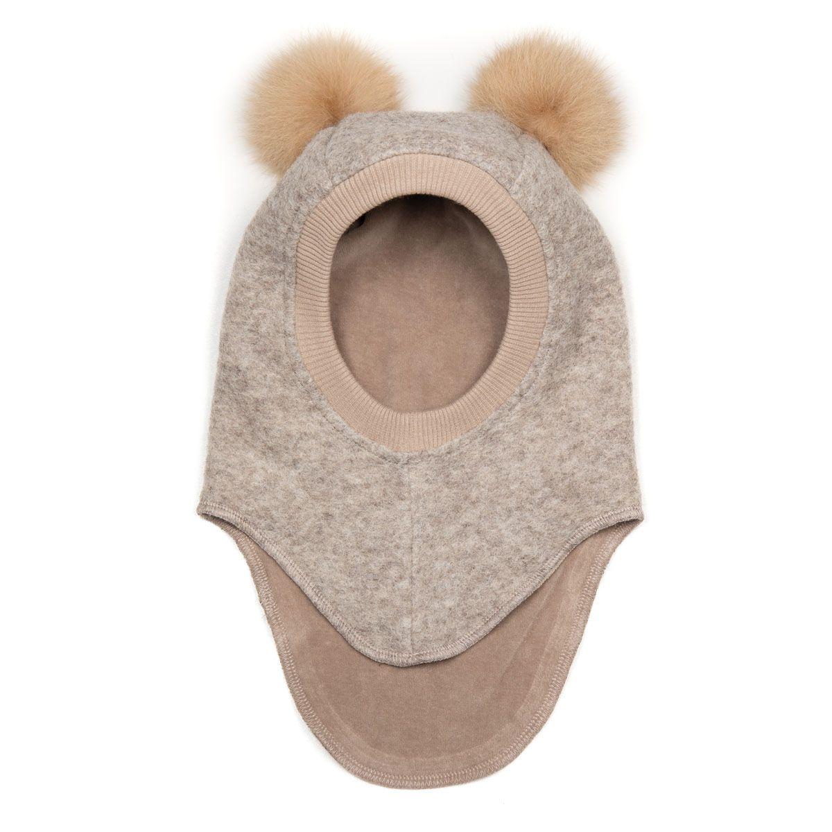 Huttelihut BIG BEAR, Wool Balaclava - Camel