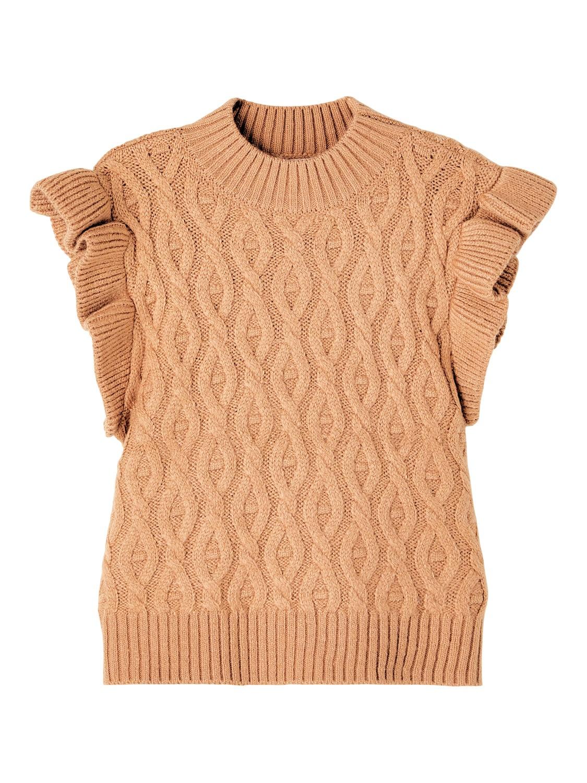 Ramat Knit Slipover - Cafè Au Lait