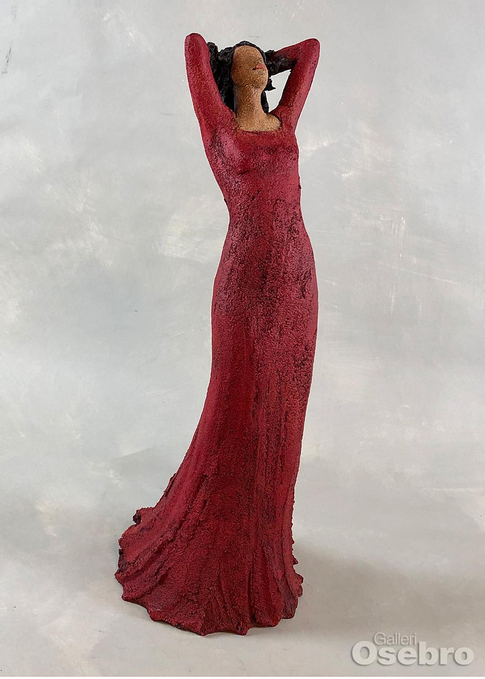 Dahlin, Ingun - Stående dame i rødt