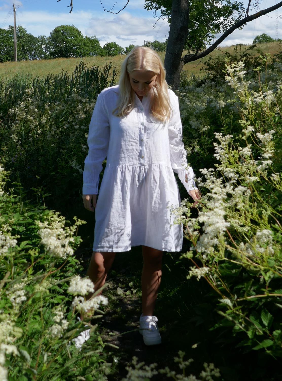 Dress short, linen