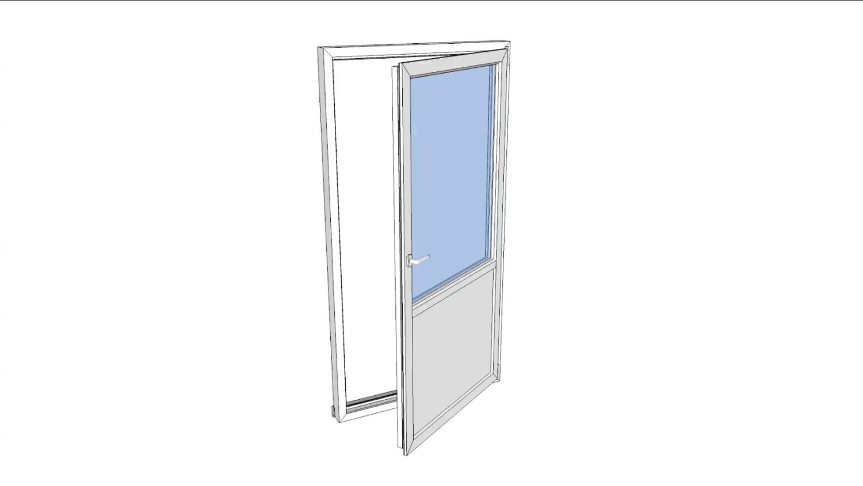 Balkongdør drei og vipp 90x200 vindusdør venstre pr stk