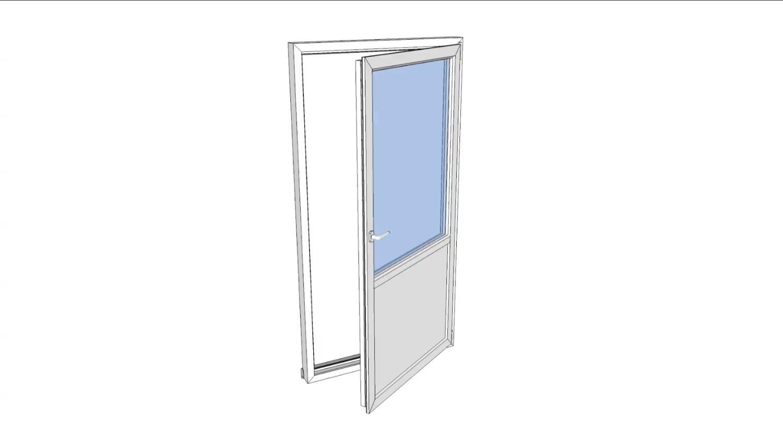 Balkongdør drei og vipp 80x210 vindusdør høyre pr stk