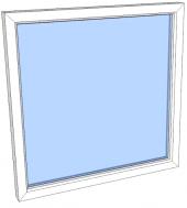 Vindu fastkarm PVC 990x490 2-lag glass pr stk