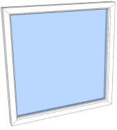 Vindu fastkarm PVC 1090x1090 2-lag glass pr stk
