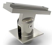Toppfeste for stolpe 40x40 firkant justerbart håndrekke 60x25 pr stk