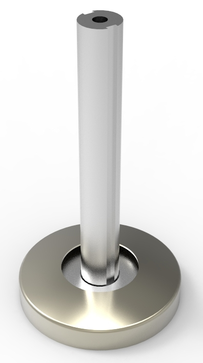 Stolpefot standard for Ø40 stope rund 80mm fot pr stk