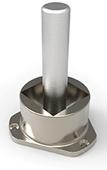 Stolpefot for 40x40mm firkant stolpe pr stk