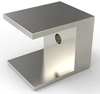 Holder for firkant stole 17x17mm sikkerhetsbjelke pr stk
