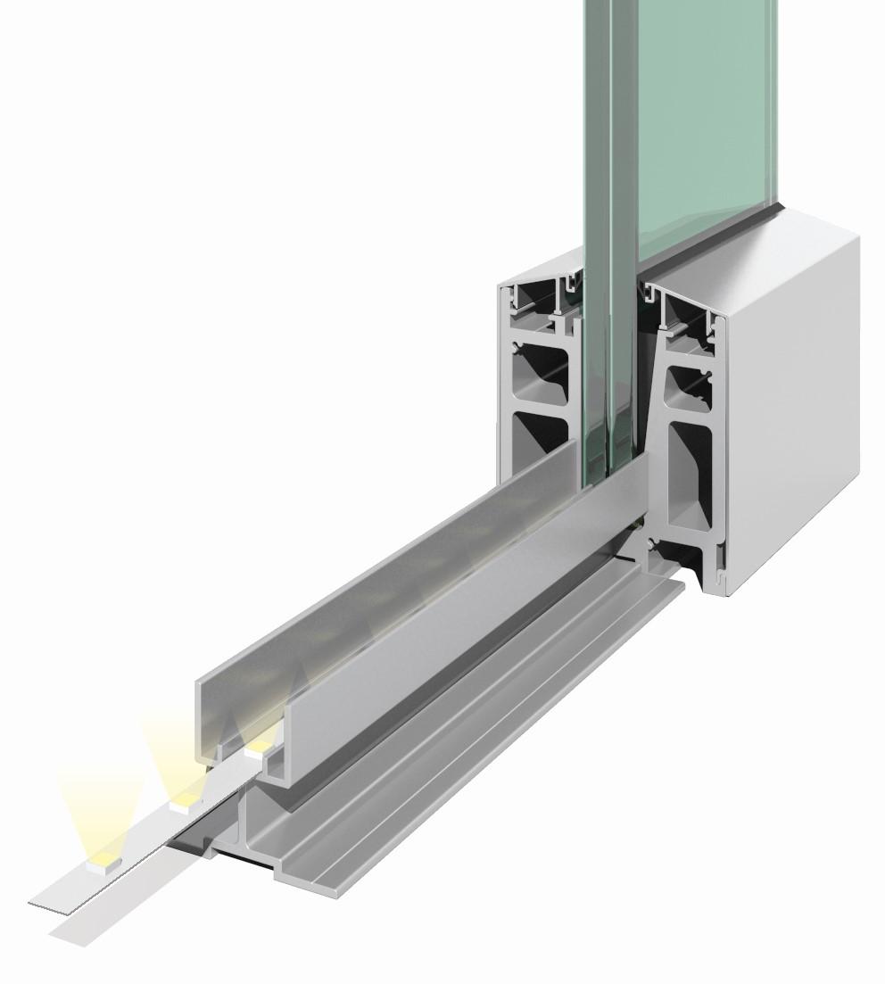 Elegant C50 dekselstøtte for LED lys pr meter