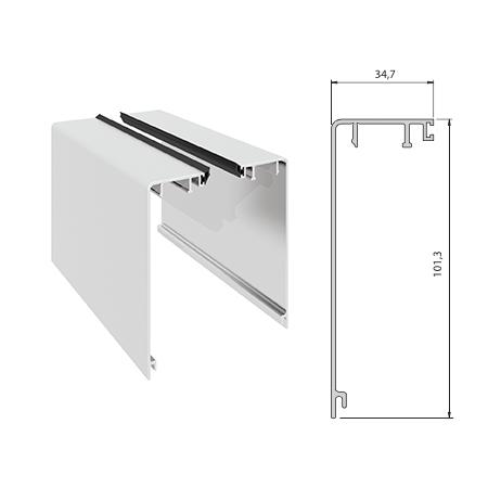 Elegant C50 deksel type B flatt pr meter