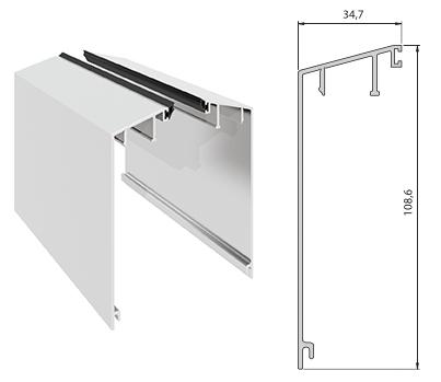 Elegant C50 deksel curvet pr meter
