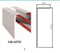 Elegang C50 deksel type B rustfritt SS pr 2 meter deksel