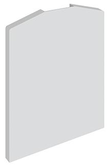 Elegant C50 endelokk type A plastikk pr stk