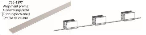 Elegant C50 rettningsprofil pr meter