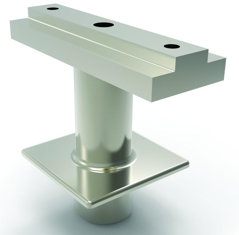Håndrekke toppfeste for stolpe 40x40 firkant fast 60x25 pr stk