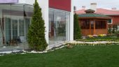 Foldedør aluminium 10mm herdet glass 160 x 210 cm pr stk