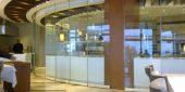 Foldedør aluminium 10mm herdet glass 280 x 210 cm pr stk