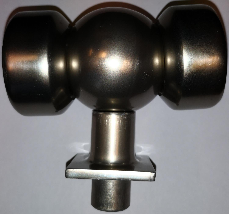 Håndrekke Ø50 hjørne justerbart for 40x40 stolpe pr stk