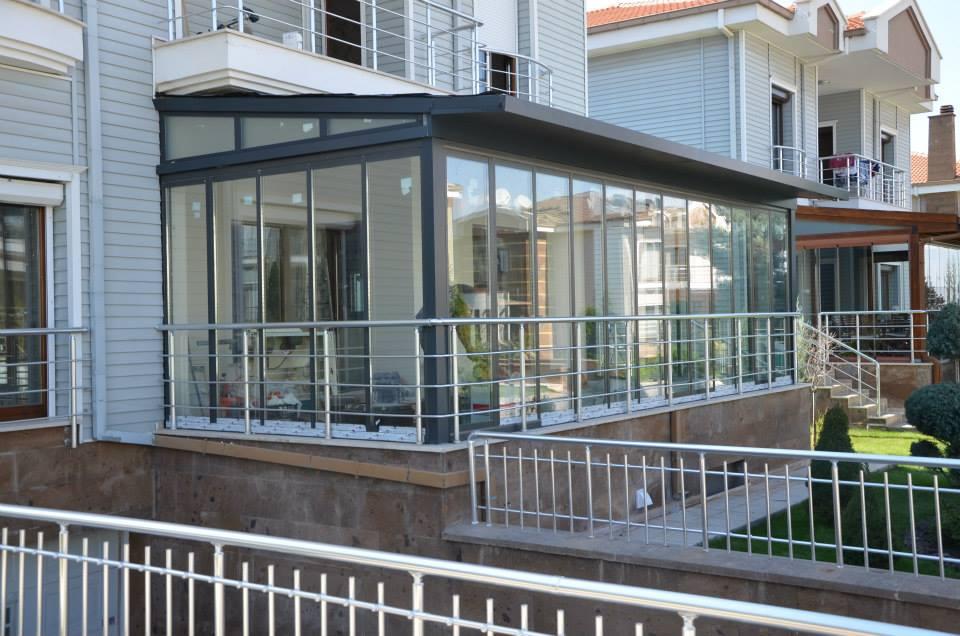Foldedør alu garden 2-lag glass 320x200 pr stk