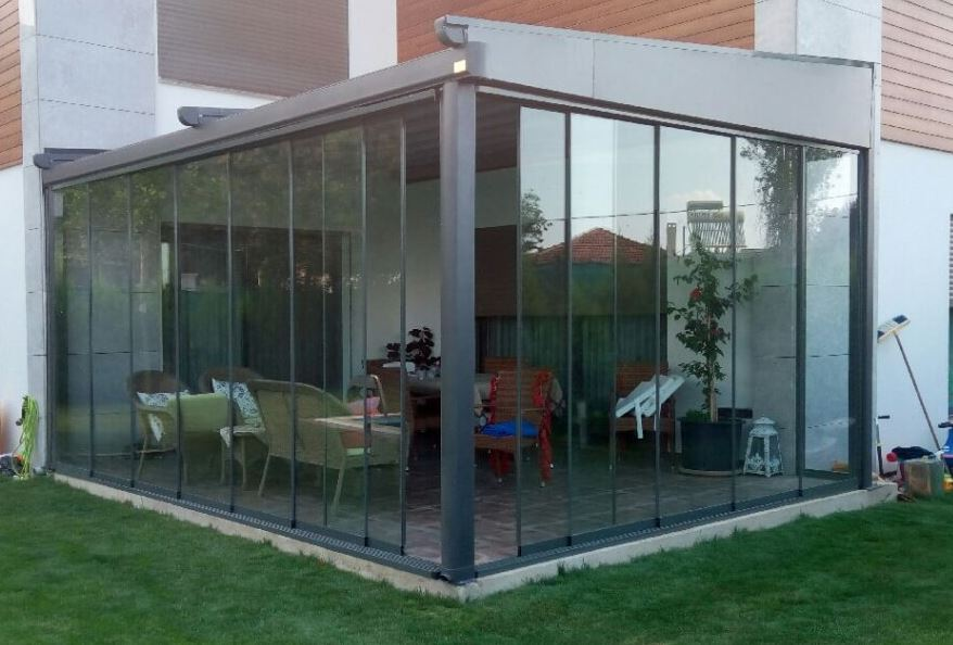 Skyvedør Garden med 8mm glass med terskel 180x200 pr stk