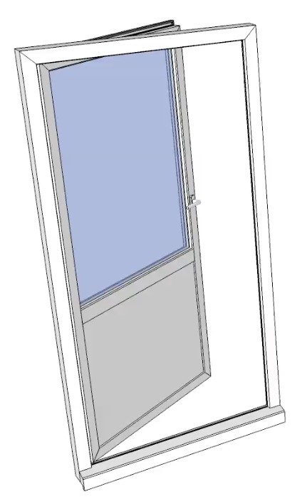 Balkongdør 90x200 venstre br 90cm venstre pr stk