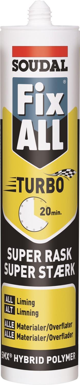 Soudal Fix All Turbo 290ml hvit pr stk