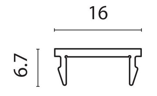 Deksel smal for PR9458 pr meter
