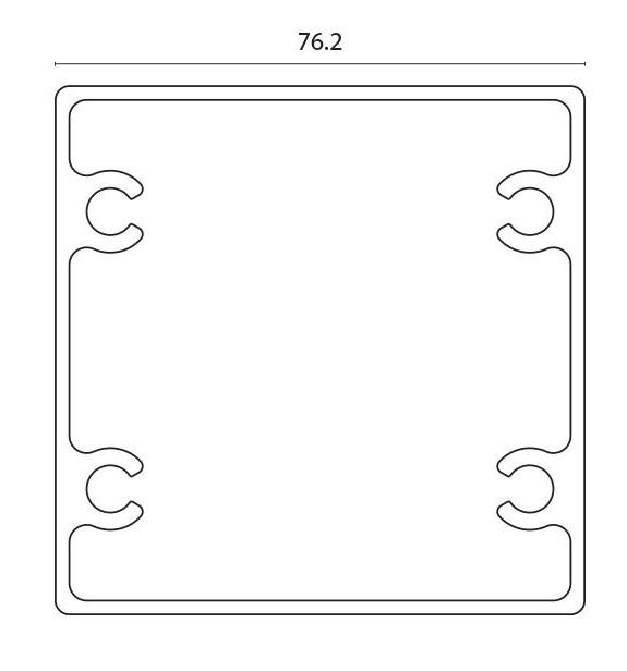 Stolpe midtstolpe for F76 pr meter