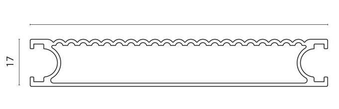 Lamellprofil for F40 og F76 pr meter