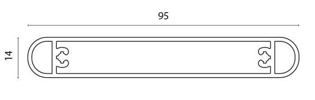 Lamellprofil for F60 Lauver pr meter