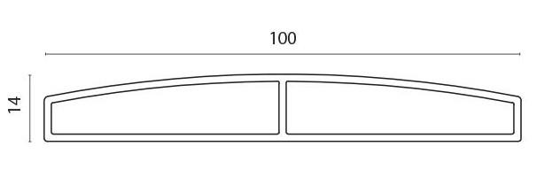 Lamellprofil for F60V pr meter